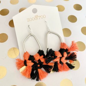 spooky spirit macrame halloween earrings