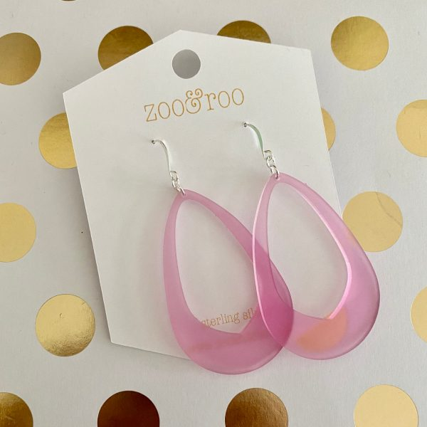 Olivia earrings frosted berry