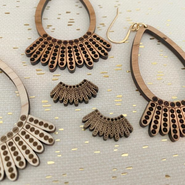dissent collar stud earrings