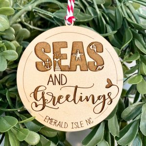 seas and greetings ornament