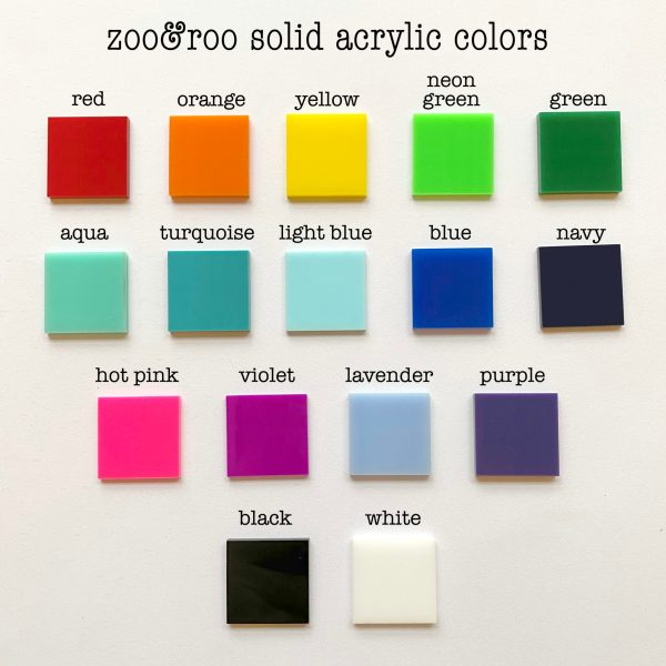 zoo&roo solid acrylic color choices