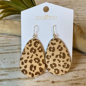running wild leopard print teardrop earrings