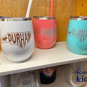Durham NC stainless wine tumbler