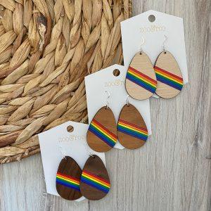 rainbow teardrop earrings