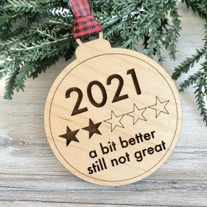 2021 two stars ornament