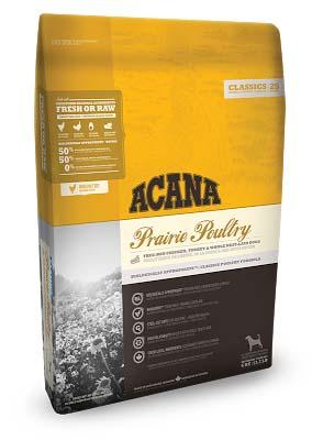 Acana Prairie Poultry (Акана прерия поултри) — корм для собак всех пород и возрастов с цыплёнком и индейкой