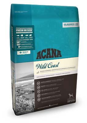 ACANA WILD COAST (АКАНА ВАЙЛД КОУСТ) — гипоаллергенный корм для собак всех пород и возрастов с рыбой