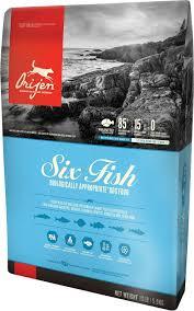 ORIJEN SIX FISH DOG (ОРИДЖЕН ШЕСТЬ РЫБ ДОГ) – гипоаллергенный сухой корм для взрослых собак и щенков всех пород