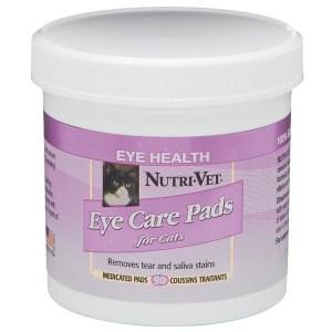 Nutri-Vet Tear Stain Removal Cat Влажные салфетки для кошек, от пятен под глазами, вокруг пасти и на лапах, 90 шт.