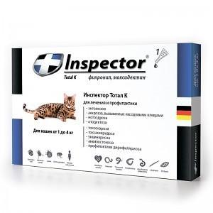 Inspector капли для кошек до 4 кг