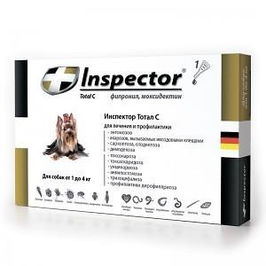 Inspector капли для собак до 4 кг