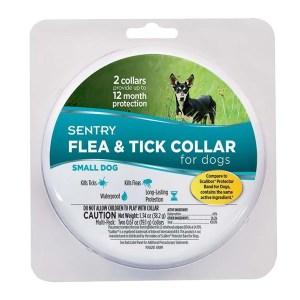 Sentry Flea&Tick Small ошейник от блох и клещей для собак малых пород, 6 месяцев защиты, 2 шт