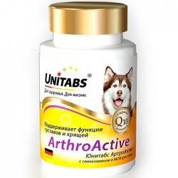 Unitabs ARTHRO АCTIVE — добавка с глюкозамином и МСM для здоровья суставов и хрящей собак