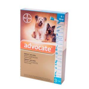 Адвокат (Advocate Bayer) для собак весом 4-10 кг, 3 пипетки
