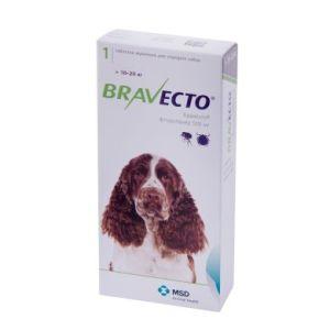 Бравекто (Bravecto) таблетки от блох и клещей для собак весом от 10 до 20 кг, 500 мг