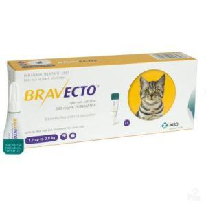 Бравекто Спот-Он (BRAVECTO SPOT-ON) для кошек весом 1,2 — 2,8 кг, 112,5 мг