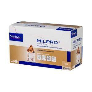 Милпро (Milpro) 2,5 мг/25 мг для щенков и собак мелких пород от 0,5 кг до 5 кг