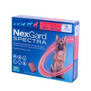 Нексгард Спектра (NexGard Spectra) таблетки от блох и клещей для собак весом 30-60 кг, 3 таб