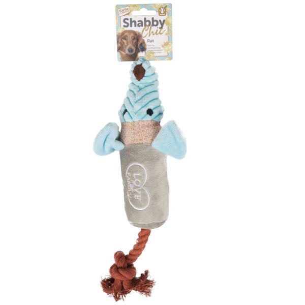Karlie-Flamingo Shabby Chic Rat КАРЛИ-ФЛАМИНГО ШЕБИ ШИК КРЫСА игрушка для собак