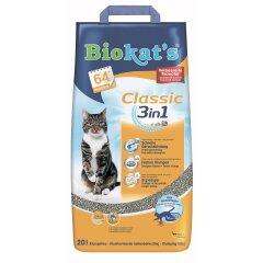 Наполнитель туалета для кошек Biokat's Classic 3in1 20 л (бентонитовый)