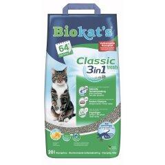 Наполнитель туалета для кошек Biokat's Classic Fresh 3in1 20 л (бентонитовый)