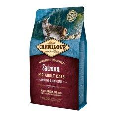 Сухой корм для кошек с чувствительным пищеварением Carnilove Cat Salmon — Sensitive & Long Hair 2 кг (лосось)