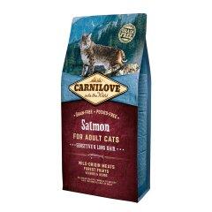Сухой корм для кошек с чувствительным пищеварением Carnilove Cat Salmon — Sensitive & Long Hair 6 кг (лосось)