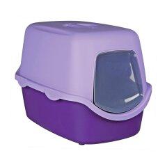Туалет для кошек Trixie закрытый «Vico» 40 x 40 x 56 см (пластик, цвет: фиолетовый)
