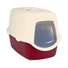 Туалет для кошек Trixie закрытый «Vico» 40 x 40 x 56 см (пластик, цвет: бордовый)