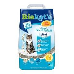 Наполнитель туалета для кошек Biokat's Classic Fresh 3in1 Cotton Blossom 10 кг (бентонитовый)