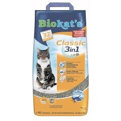 Наполнитель туалета для кошек Biokat's Classic 3in1 10 л (бентонитовый)