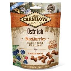 Лакомство для собак Carnilove Ostrich with Blackberries 200 г (для здоровья сердца)