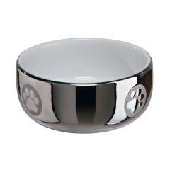 Миска керамическая Trixie 300 мл / 11 см (серебристая)