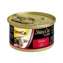 Влажный корм для кошек GimCat Shiny Cat 70 г (курица)