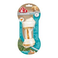 Лакомство для собак 8in1 Delights Кость для чистки зубов Pro Dental 14 см, 65 г (курица)