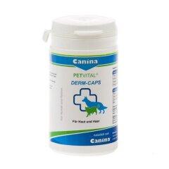 Витамины для кошек и собак Canina «PETVITAL Dеrm-Caps» 100 капсул, 40 г (для кожи и шерсти)