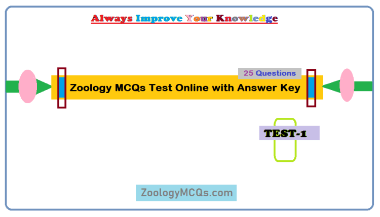 Zoology MCQs Test Online with Answer Key