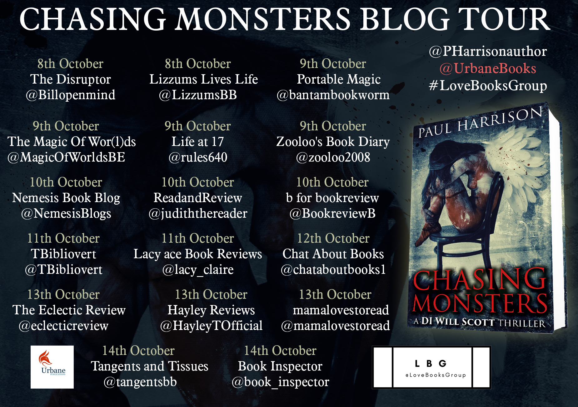 #Excerpt of Chasing Monsters by Paul Harrison  @PHarrisonauthor   @UrbaneBooks #LoveBooksGroup