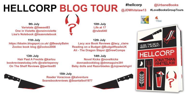 #BookReview - HellCorp by Jonathan Whitelaw @JDWhitelaw13 @Urbanebooks #LoveBooksGroupTours #HellCorp