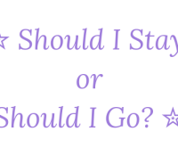 Should I Stay or Should I Go? 23rd March 2019 #Goodreadsclearout