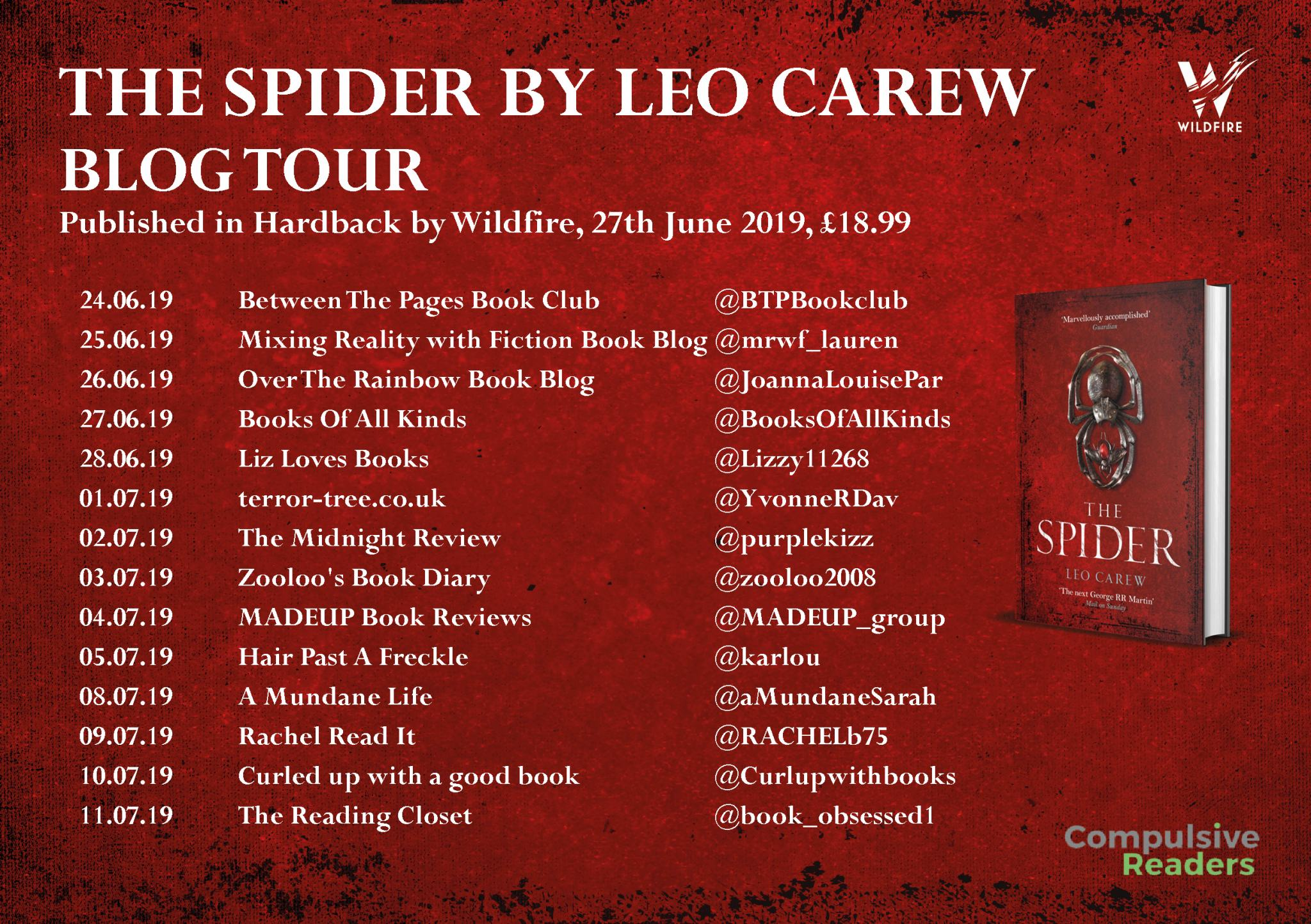 #Excerpt from The Spider by Leo Carew @leocarew1 @Tr4cyF3nt0n @Wildfirebks