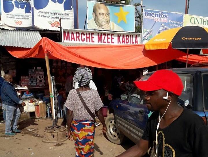 Vue de l'entre du Marché Mzee Kabila à Lubumbashi. Ph. Zoom Eco