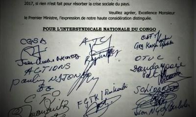 RDC : Grève des agents de l'Etat, l'Intersyndicale divisée ! 5