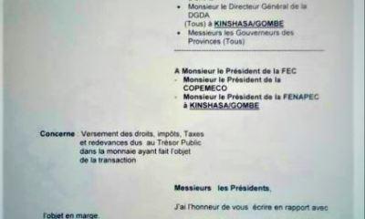 RDC: Dollarisation de la Fiscalité minière, l'Etat accède à la demande de la FEC !