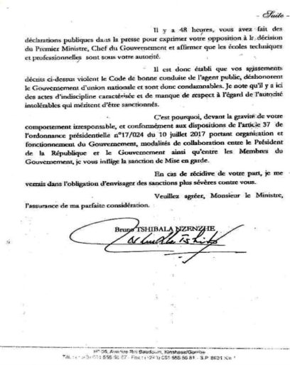 """RDC : Tshibala sanctionne l'indiscipline """"caractérisée"""" de Gaston Musemena ! 2"""
