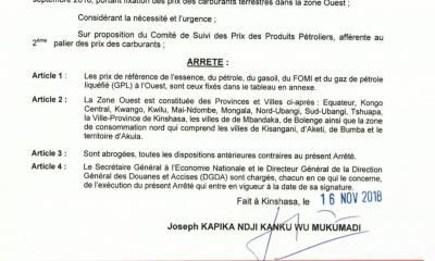 RDC : carburant, hausse du prix du litre de 130 CDF dès ce dimanche (document) 13