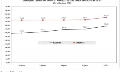 RDC: budget 2019 exécuté à 6,2% en recettes et 6,5% en dépenses au 8 février 2019 14