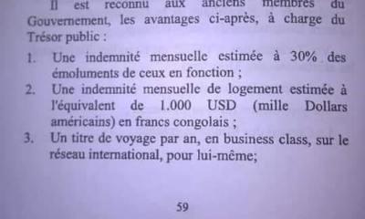 RDC: l'illégalité du Décret Tshibala sur les avantages accordés aux anciens ministres! 10