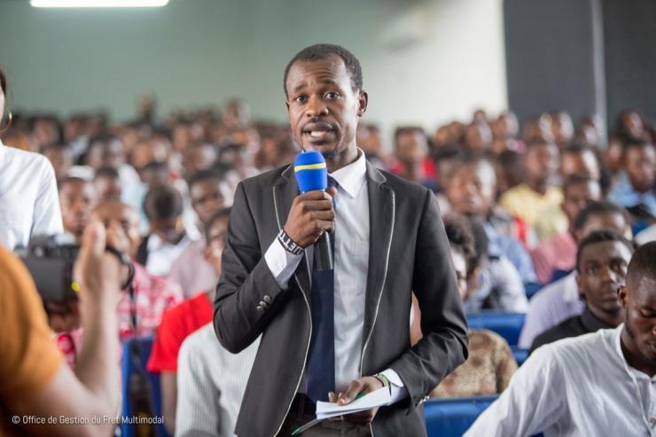 RDC: Patient Sayiba explique aux étudiants les enjeux de la gestion du fret 3