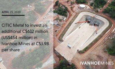 RDC : Ivanhoe Mines, le projet Kamoa-Kakula bénéficiaire du 2ème financement de CITIC Metal 22